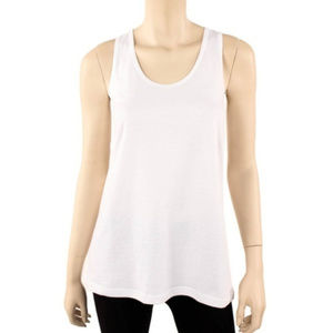 Tops - Basic White Loose Fit Jersey Tank